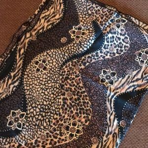 Animal print one size large sarong cover up